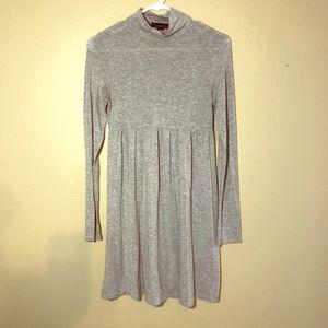 Forever 21 grey knit mock turtleneck empire waist